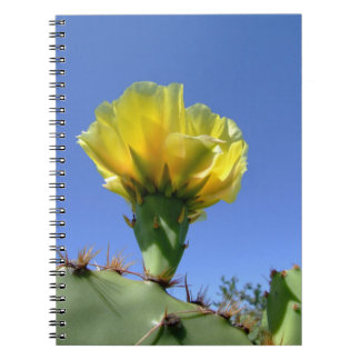 Yellow prickly pear cactus notebook