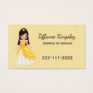 Yellow Princess Childs or Mommy Networking Card