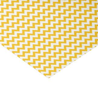 Yellow Print Glossy Tissue Paper