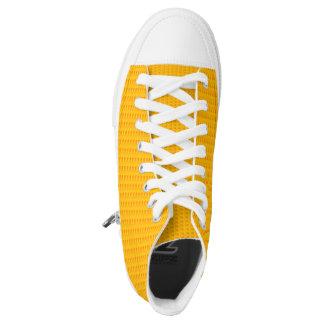 Yellow print high tops converse Designer Sneakers
