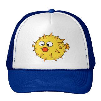 Yellow Puffer Fish Cap