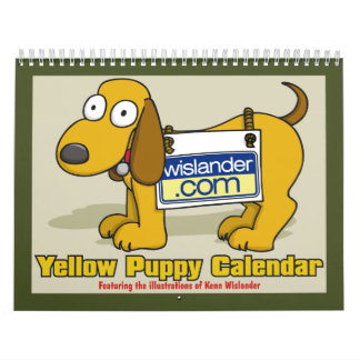 Yellow Puppy Calender 2011 Calendars