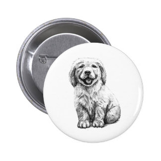 Yellow Puppy Lab Button