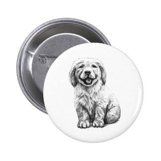Yellow Puppy Lab Button