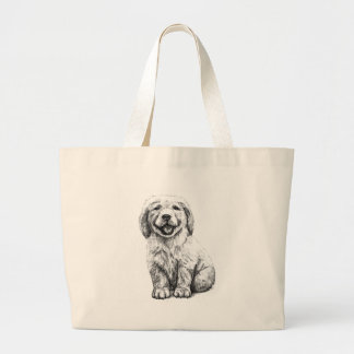 Yellow Puppy Lab Tote Bag
