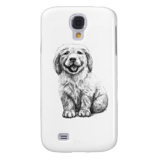 Yellow Puppy Lab Galaxy S4 Cases