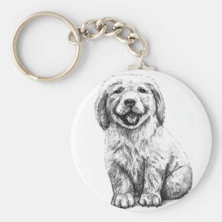 Yellow Puppy Lab Keychain