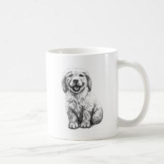 Yellow Puppy Lab Coffee Mug