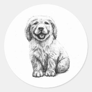 Yellow Puppy Lab Stickers