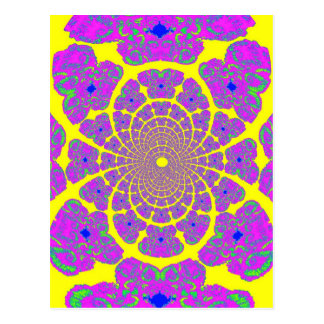 Yellow & Purple Atom Structure Design by Sharles Postcard