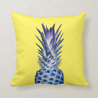 Yellow & Purple Blue Pineapple Throw Pillow