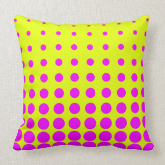 Yellow &  Purple Colourful Vector abstract dot Throw Pillow