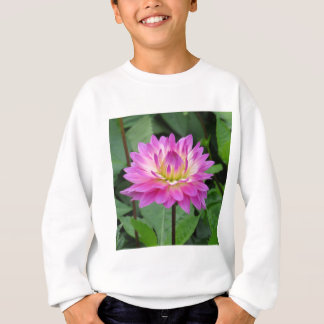Yellow Purple Dahlia Sweatshirt