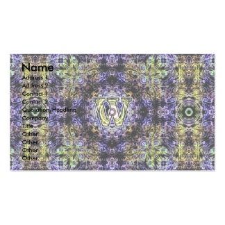 Yellow Purple Fractal Electricity W Pack Of Standard Business Cards