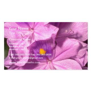 Yellow Purple haze flowers Business Cards