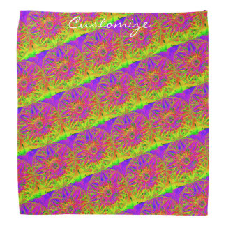 yellow purple mandala Thunder_Cove Bandana