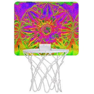 yellow purple mandalas Thunder_Cove Mini Basketball Hoop