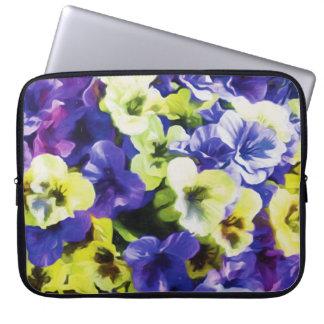 Yellow & Purple Pansies Laptop Computer Sleeve