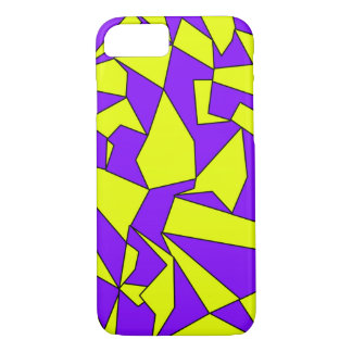 Yellow Purple Pattern Shapes iPhone 7 case