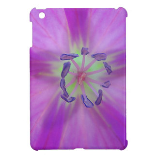 Yellow-purple plant star with bloom stamps iPad mini covers