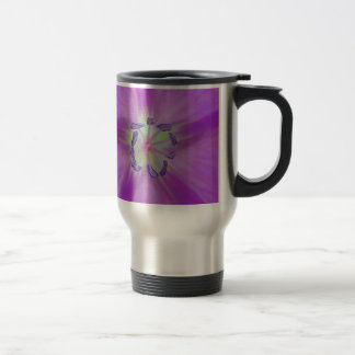 Yellow-purple plant star with bloom stamps mug