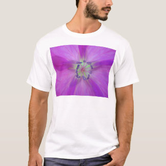 Yellow-purple plant star with bloom stamps T-Shirt