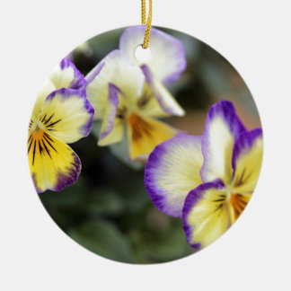 Yellow & Purple Round Ceramic Decoration