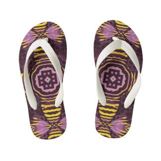 Yellow Purple Zebra Thongs