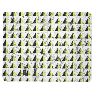 Yellow Pyramid Distressed Pattern Journal