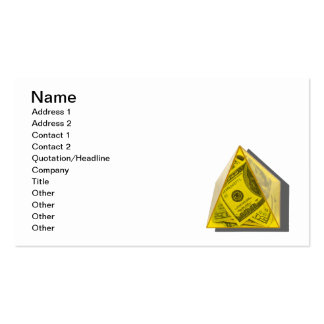 Yellow Pyramid of Power Business Card Templates