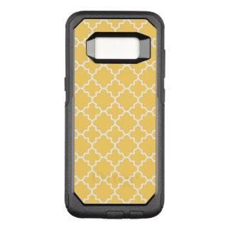Yellow Quatrefoil Pattern OtterBox Commuter Samsung Galaxy S8 Case
