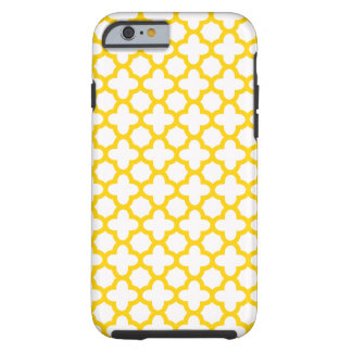 Yellow Quatrefoil Pattern Tough iPhone 6 Case