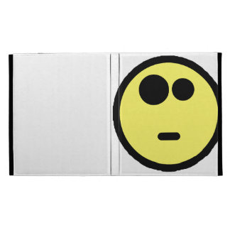 Yellow Questioning Smiley Face iPad Folio Covers