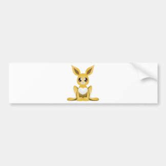 Yellow rabbit 2 bumper sticker
