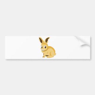 Yellow rabbit bumper sticker