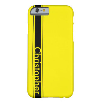 Yellow Racing Stripe Barely There iPhone 6 Case