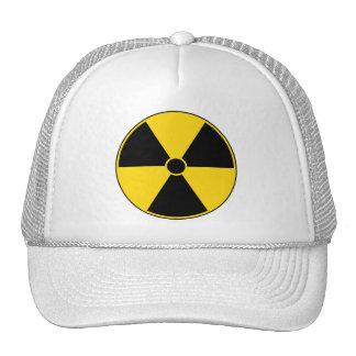 Yellow Radiation Symbol Cap Trucker Hat