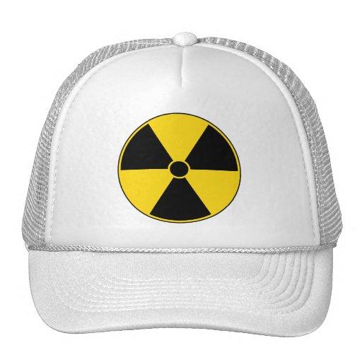 Yellow Radiation Symbol Cap Mesh Hats