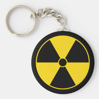 Yellow Radiation Symbol Keychain