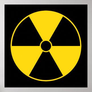 Yellow Radiation Symbol Poster