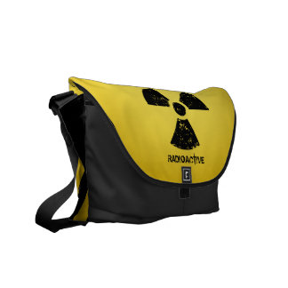 Yellow Radioactive Symbol Courier Bag