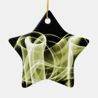 Yellow - Rainbow Waves Collectible Christmas Tree Ornaments