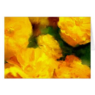 Yellow Ranunculus Flower Art Greeting Card
