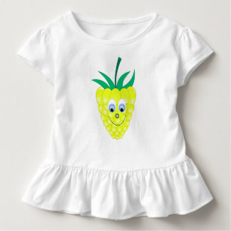 yellow raspberry face smile toddler T-Shirt
