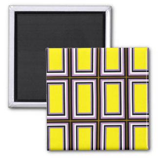 Yellow Rectangles Fridge Magnet