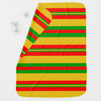Yellow, Red and Green Stripes of Benin 2 Baby Blanket