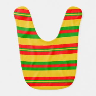 Yellow, Red and Green Stripes of Benin 2 Bib