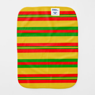Yellow, Red and Green Stripes of Benin 2 Burp Cloth