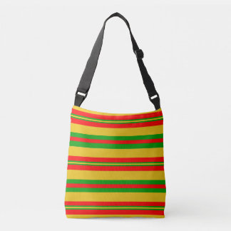 Yellow, Red and Green Stripes of Benin 2 Crossbody Bag