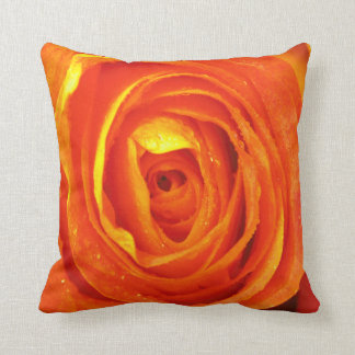 Yellow red and orange rose pillow throw cushion